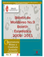 Boletín de monitoreo N° 9: Niñez y conflicto armado en Colombia.