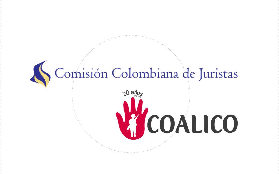 Declaración ante la Representante Especial para la cuestión de los niños y los conflictos armados de la Naciones Unidas –  Intervención de la CCJ y la COALICO