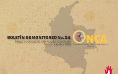 Boletín de monitoreo N°. 24: Niñez y conflicto armado en Colombia